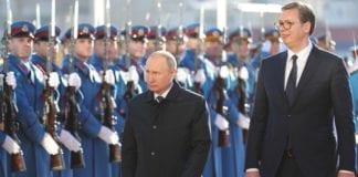 Παλλαϊκή υποδοχή Πούτιν στο Βελιγράδι