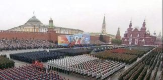 στρατιωτική παρέλαση στην Κόκκινη Πλατεία