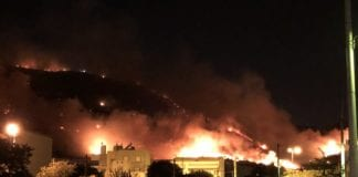 Φωτιά στον Υμηττό: Διακοπή κυκλοφορίας στην Κατεχάκη