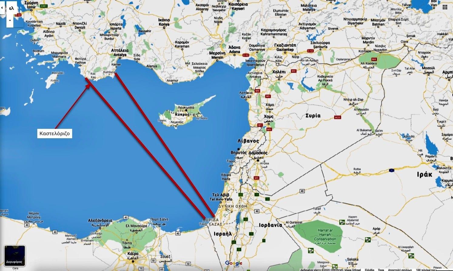 ΑΟΖ Τουρκίας - Παλαιστίνης ετοιμάζει η Άγκυρα