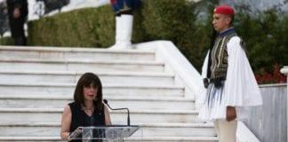 Κατερίνα Σακελλαροπούλου : Η Τουρκία υπονομεύει ανοικτά τον διάλογο και εργαλειοποιεί τη συμφωνία για το προσφυγικό, λέει η Πρόεδρος της Δημοκρατίας