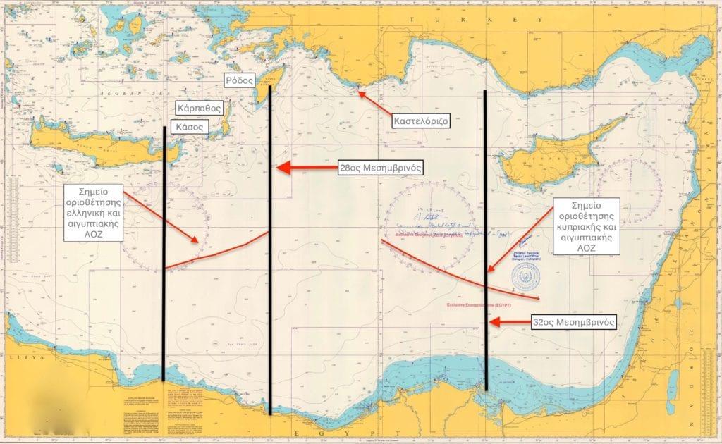 ΑΟΖ ΑΟΖ: Παίζει η Αίγυπτος σε διπλό ταμπλό με Ελλάδα και Τουρκία;