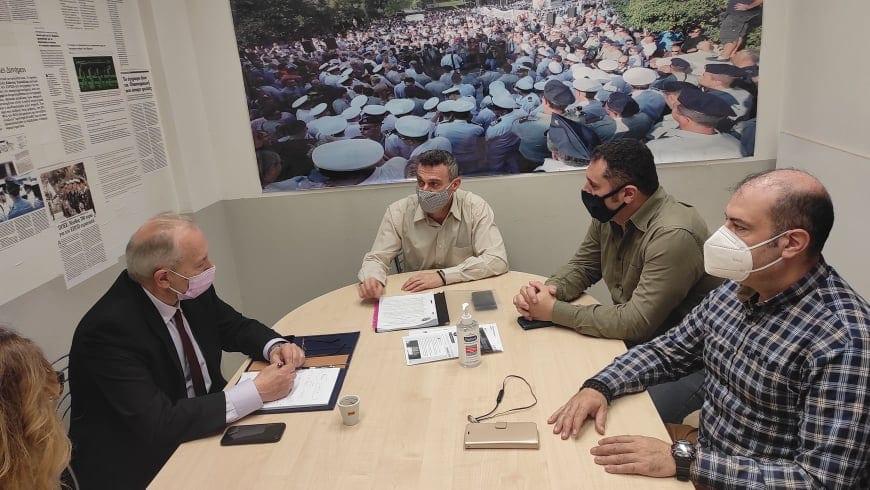 Ο βουλευτής ΝΔ Στέφανος Γκίκας ενημερώθηκε στα γραφεία της ΠΟΕΣ