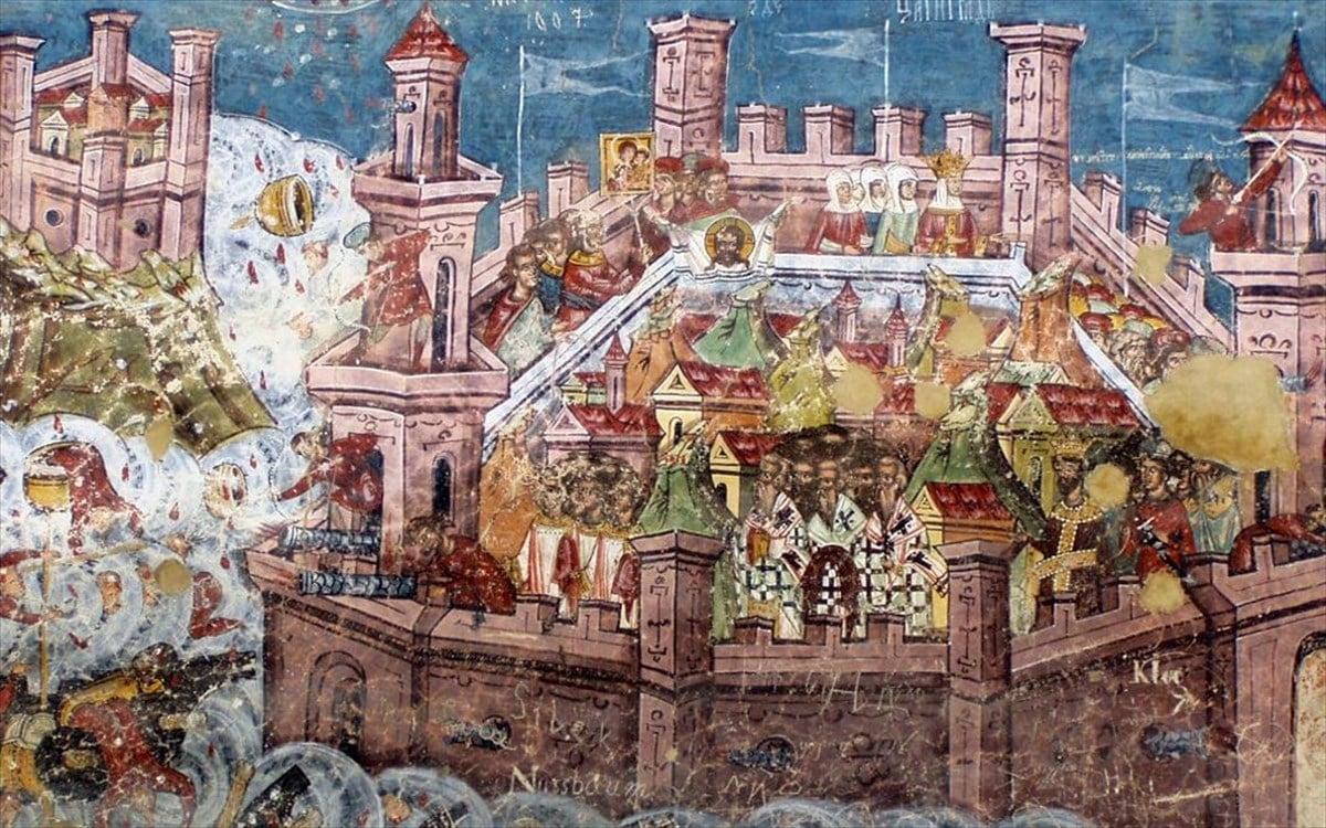 2 Απριλίου 1453: Ο Μωάμεθ Β', ο πορθητής επικεφαλής 250.000 ανδρών, φτάνει προ των τειχών της Κωνσταντινούπολης