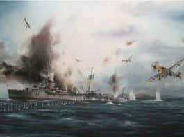 Αντιτορπιλικό ΥΔΡΑ: Το συγκλονιστικό τέλος στην Αίγινα τον Απρίλιο του 1941, μετά από σφοδρή αεροπορική επίθεση των γερμανικών στούκας