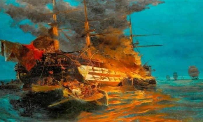 Επανάσταση 1821: Η πυρπόληση του τουρκικού δίκροτου στην Ερεσό από τον Παπανικολή - Η ναυμαχία της Ερεσού και η πρώτη νίκη των Ελλήνων